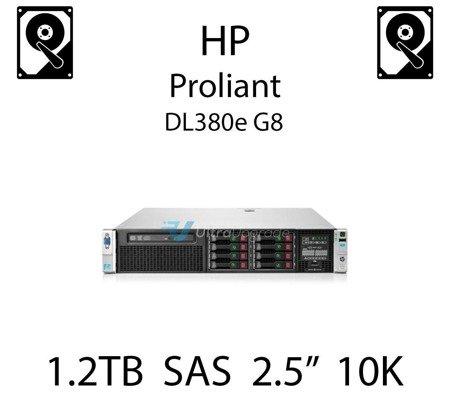 """1.2TB 2.5"""" dedykowany dysk serwerowy SAS do serwera HP ProLiant DL380e G8, HDD Enterprise 10k, 12Gbps - 781518-B21 (REF)"""