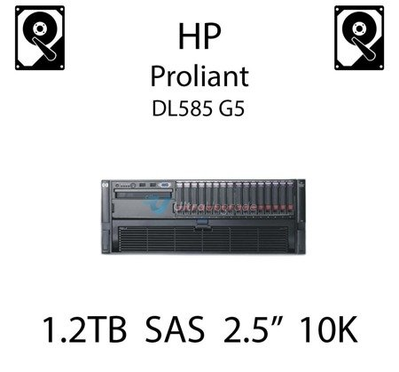 """1.2TB 2.5"""" dedykowany dysk serwerowy SAS do serwera HP ProLiant DL585 G5, HDD Enterprise 10k, 12GB/s - 785079-B21  (REF)"""