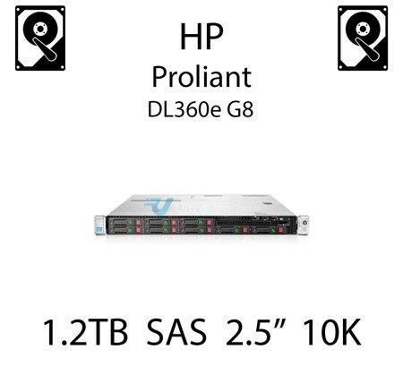 """1.2TB 2.5"""" dedykowany dysk serwerowy SAS do serwera HP Proliant DL360e G8, HDD Enterprise 10k, 6Gbps - 697631-001 (REF)"""