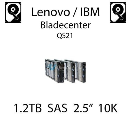 "1.2TB 2.5"" dedykowany dysk serwerowy SAS do serwera Lenovo / IBM Bladecenter QS21, HDD Enterprise 10k, 600MB/s - 00AD075"