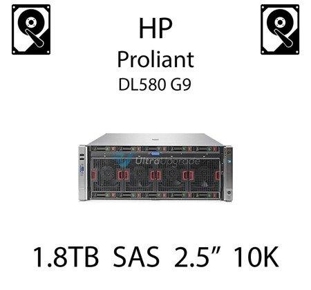 """1.8TB 2.5"""" dedykowany dysk serwerowy SAS do serwera HP Proliant DL580 G9, HDD Enterprise 10k, 12Gbps - 791034-B21 (REF)"""
