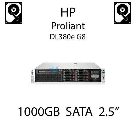 """1000GB 2.5"""" dedykowany dysk serwerowy SATA do serwera HP ProLiant DL380e G8, HDD Enterprise 7.2k, 6Gbps - 656108-001 (REF)"""