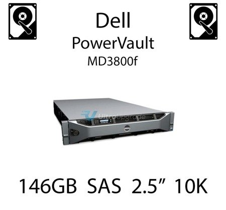 """146GB 2.5"""" dedykowany dysk serwerowy SAS do serwera Dell PowerVault MD3800f, HDD Enterprise 10k, 300MB/s - CM318"""