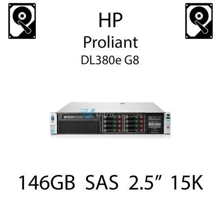"""146GB 2.5"""" dedykowany dysk serwerowy SAS do serwera HP ProLiant DL380e G8, HDD Enterprise 15k - 653950-001 (REF)"""
