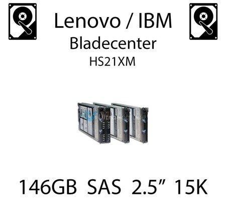 """146GB 2.5"""" dedykowany dysk serwerowy SAS do serwera Lenovo / IBM Bladecenter HS21XM, HDD Enterprise 15k, 600MB/s - 90Y8926"""