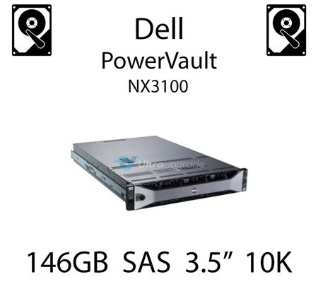 """146GB 3.5"""" dedykowany dysk serwerowy SAS do serwera Dell PowerVault NX3100, HDD Enterprise 10k, 3072MB/s - M8033"""