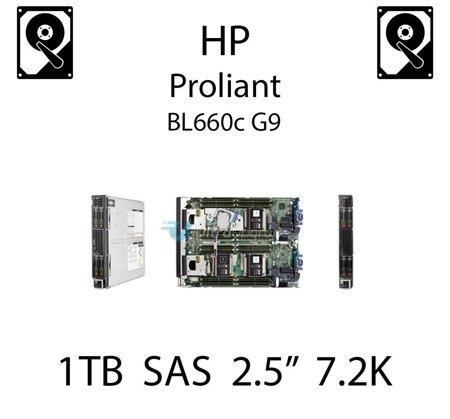 """1TB 2.5"""" dedykowany dysk serwerowy SAS do serwera HP ProLiant BL660c G9, HDD Enterprise 7.2k, 6Gbps - 653954-001 (REF)"""