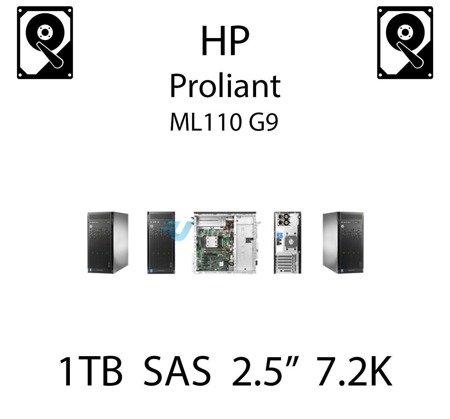 """1TB 2.5"""" dedykowany dysk serwerowy SAS do serwera HP ProLiant ML110 G9, HDD Enterprise 7.2k, 12Gbps - 765464-B21 (REF)"""