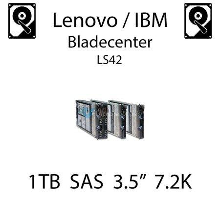 """1TB 3.5"""" dedykowany dysk serwerowy SAS do serwera Lenovo / IBM Bladecenter LS42, HDD Enterprise 7.2k, 600MB/s - 90Y8567"""