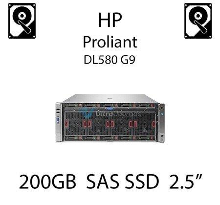 "200GB 2.5"" dedykowany dysk serwerowy SAS do serwera HP Proliant DL580 G9, SSD Enterprise  - 653961-001 (REF)"