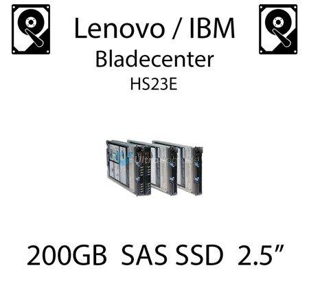 "200GB 2.5"" dedykowany dysk serwerowy SAS do serwera Lenovo / IBM Bladecenter HS23E, SSD Enterprise , 600MB/s - 49Y6129"