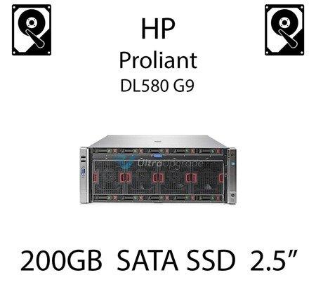 "200GB 2.5"" dedykowany dysk serwerowy SATA do serwera HP Proliant DL580 G9, SSD Enterprise , 3Gbps - 653966-001 (REF)"