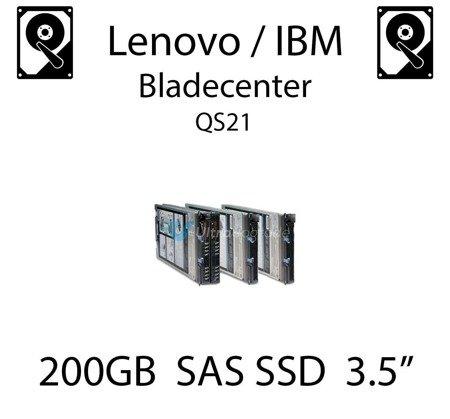 """200GB 3.5"""" dedykowany dysk serwerowy SAS do serwera Lenovo / IBM Bladecenter QS21, SSD Enterprise , 600MB/s - 00W1306"""