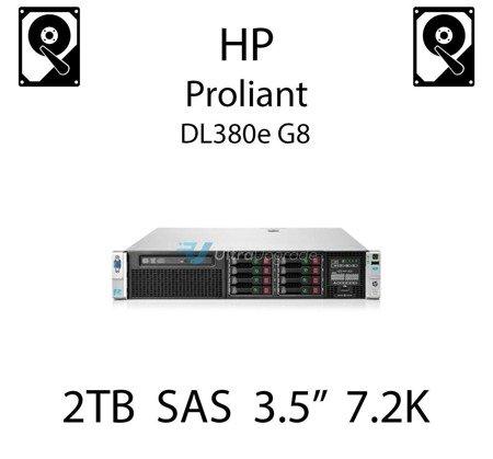 """2TB 3.5"""" dedykowany dysk serwerowy SAS do serwera HP ProLiant DL380e G8, HDD Enterprise 7.2k, 6Gbps - 652757-B21 (REF)"""