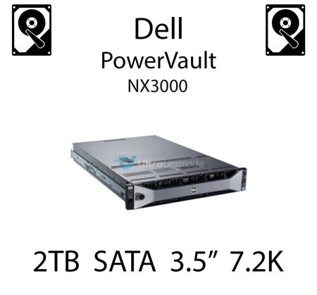 """2TB 3.5"""" dedykowany dysk serwerowy SATA do serwera Dell PowerVault NX3000, HDD Enterprise 7.2k, 3Gbps - VGY1F"""