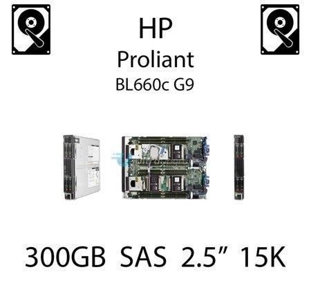 """300GB 2.5"""" dedykowany dysk serwerowy SAS do serwera HP ProLiant BL660c G9, HDD Enterprise 15k - 652611-B21 (REF)"""
