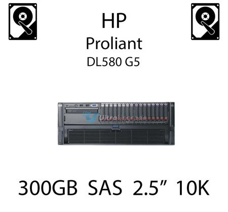 """300GB 2.5"""" dedykowany dysk serwerowy SAS do serwera HP ProLiant DL580 G5, HDD Enterprise 10k - 493083-001 (REF)"""