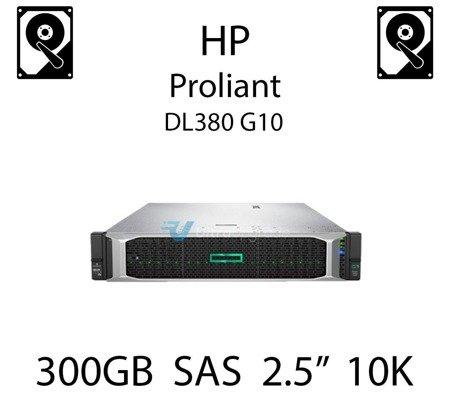 """300GB 2.5"""" dedykowany dysk serwerowy SAS do serwera HP Proliant DL380 G10, HDD Enterprise 10k, 12Gbps - 872475-B21 (REF)"""