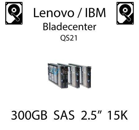 """300GB 2.5"""" dedykowany dysk serwerowy SAS do serwera Lenovo / IBM Bladecenter QS21, HDD Enterprise 15k, 600MB/s - 81Y9670"""