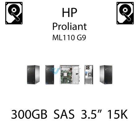 """300GB 3.5"""" dedykowany dysk serwerowy SAS do serwera HP ProLiant ML110 G9, HDD Enterprise 15k, 12Gbps - 737298-001 (REF)"""