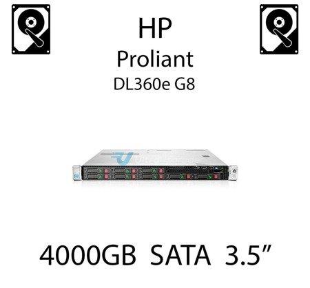 """4000GB 3.5"""" dedykowany dysk serwerowy SATA do serwera HP Proliant DL360e G8, HDD Enterprise 7.2k, 6Gbps - 693720-001 (REF)"""