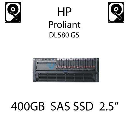 "400GB 2.5"" dedykowany dysk serwerowy SAS do serwera HP ProLiant DL580 G5, SSD Enterprise  - 632636-001 (REF)"
