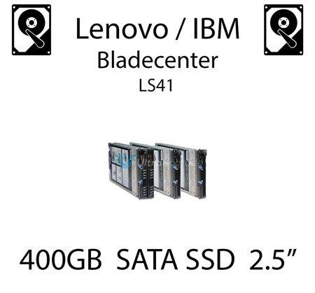 """400GB 2.5"""" dedykowany dysk serwerowy SATA do serwera Lenovo / IBM Bladecenter LS41, SSD Enterprise , 600MB/s - 41Y8336 (REF)"""