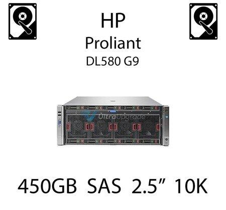 """450GB 2.5"""" dedykowany dysk serwerowy SAS do serwera HP Proliant DL580 G9, HDD Enterprise 10k, 6Gbps - 653956-001 (REF)"""