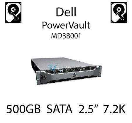"""500GB 2.5"""" dedykowany dysk serwerowy SATA do serwera Dell PowerVault MD3800f, HDD Enterprise 7.2k, 320MB/s - 00X3Y"""
