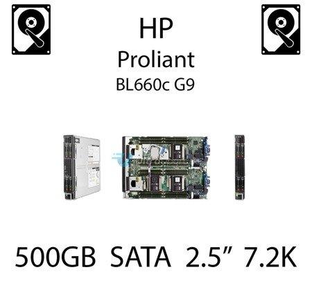 """500GB 2.5"""" dedykowany dysk serwerowy SATA do serwera HP ProLiant BL660c G9, HDD Enterprise 7.2k, 6Gbps - 655708-B21   (REF)"""