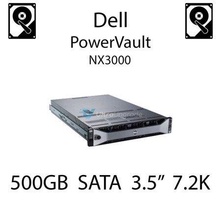 """500GB 3.5"""" dedykowany dysk serwerowy SATA do serwera Dell PowerVault NX3000, HDD Enterprise 7.2k, 600MB/s - C3YJM"""