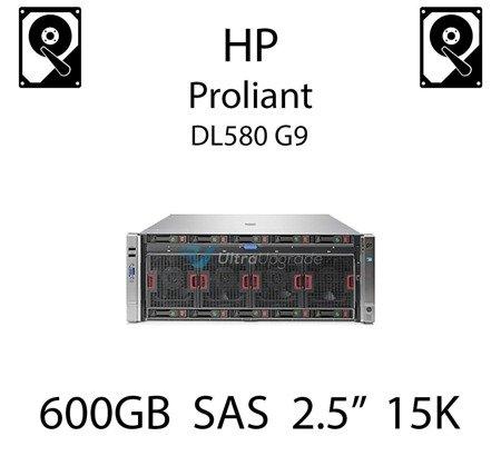 """600GB 2.5"""" dedykowany dysk serwerowy SAS do serwera HP Proliant DL580 G9, HDD Enterprise 15k, 12Gb/s - 759548-001 (REF)"""