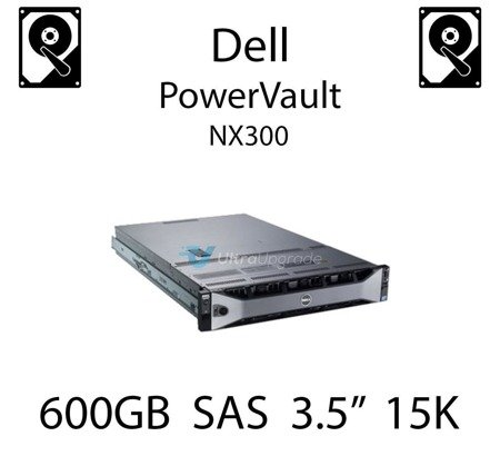 "600GB 3.5"" dedykowany dysk serwerowy SAS do serwera Dell PowerVault NX300, HDD Enterprise 15k, 6Gbps - T873K"