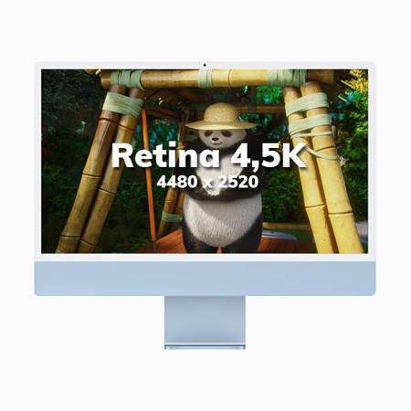 Apple iMac 24 Retina 4.5K Procesor M1 8 rdzeni 3,2GHz, GPU 7 rdzeni SSD 256GB RAM 8GB Srebrny (Silver)