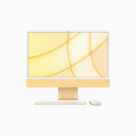 Apple iMac 24 Retina 4.5K Procesor M1 8 rdzeni 3,2GHz, GPU 8 rdzeni  SSD 256GB RAM 8GB Żółty (Yellow)