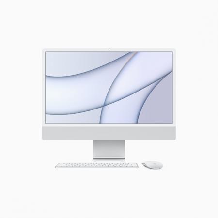 Apple iMac 24 Retina 4.5K Procesor M1 8 rdzeni 3,2GHz, GPU 8 rdzeni  SSD 512GB RAM 8GB Srebrny (Silver)