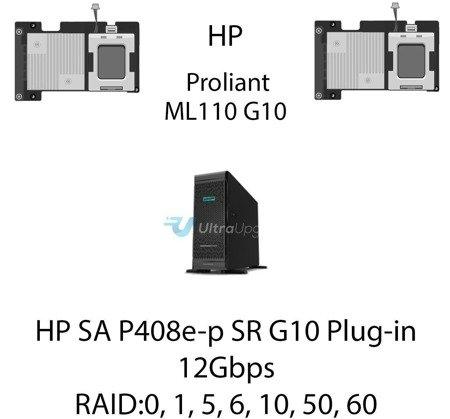 Kontroler RAID HP SA P408e-p SR G10 Plug-in, 12Gbps (SAS) / 6Gbps (SATA) - 804405-B21